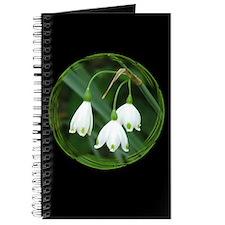 Snowflake Flowers Black Journal