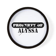 Property of Alyssa Wall Clock