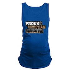 ProudChristian copy Maternity Tank Top