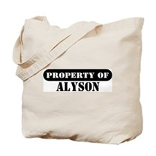 Property of Alyson Tote Bag