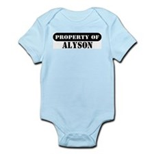 Property of Alyson Infant Bodysuit