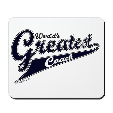 """World's Greatest Coach"" Mousepad"