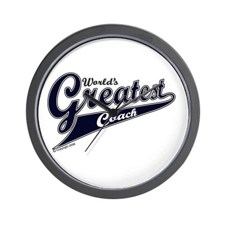 """World's Greatest Coach"" Wall Clock"