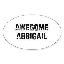 Awesome Abbigail Oval Decal