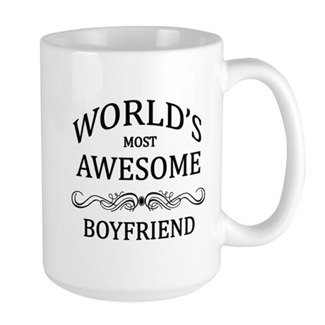 World's Most Awesome Boyfriend Large Mug