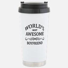 World's Most Awesome Boyfriend Stainless Steel Tra