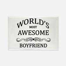 World's Most Awesome Boyfriend Rectangle Magnet