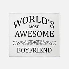 World's Most Awesome Boyfriend Throw Blanket