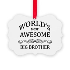 World's Most Awesome Big Brother Picture Ornament