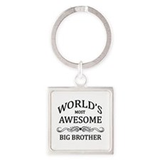 World's Most Awesome Big Brother Square Keychain