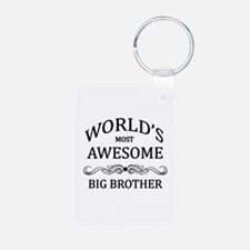 World's Most Awesome Big Brother Aluminum Photo Ke