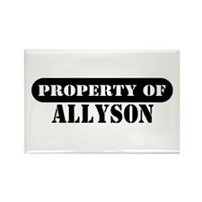 Property of Allyson Rectangle Magnet (100 pack)