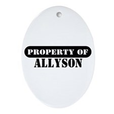 Property of Allyson Oval Ornament