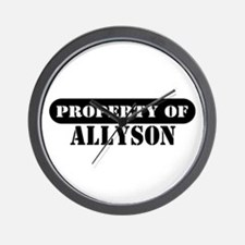 Property of Allyson Wall Clock