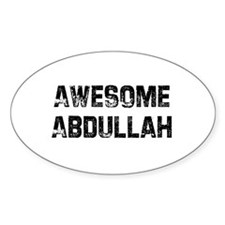 Awesome Abdullah Oval Decal