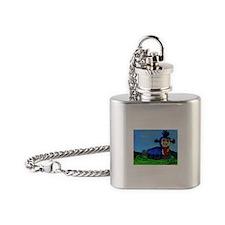 Labyrinth Flask Necklace