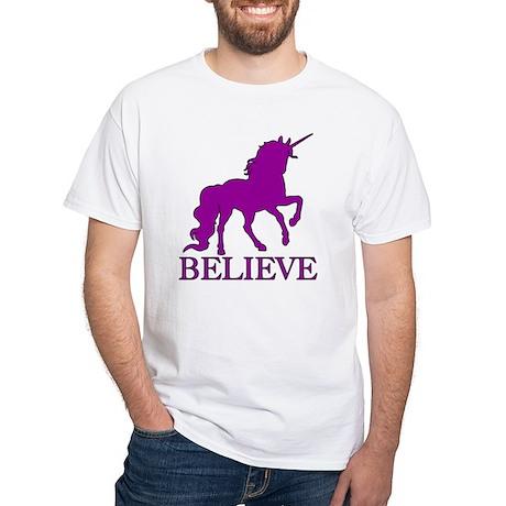 Believe Unicorn White T-Shirt