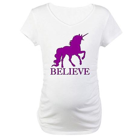 Believe Unicorn Maternity T-Shirt