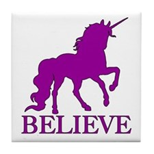 Believe Unicorn Tile Coaster