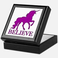 Believe Unicorn Keepsake Box