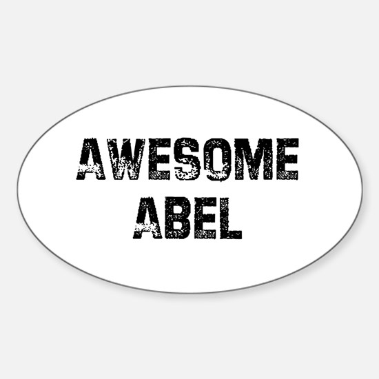 Awesome Abel Oval Decal