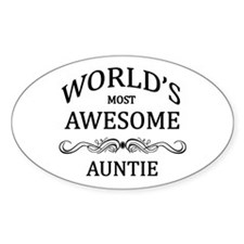 World's Most Awesome Auntie Decal
