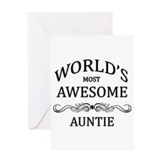 World's Most Awesome Auntie Greeting Card