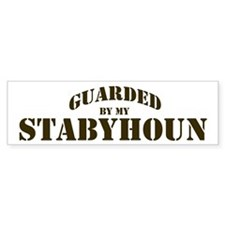 Stabyhoun: Guarded by Bumper Bumper Sticker