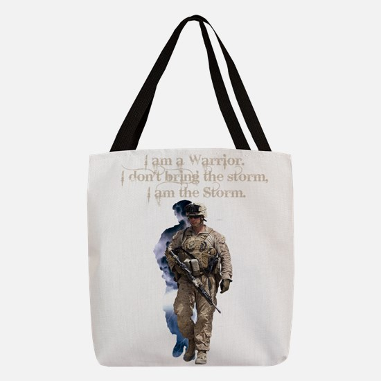 Americans United: Warrior Storm Polyester Tote Bag