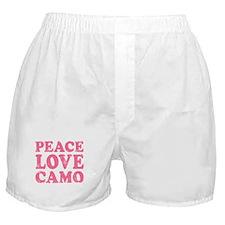 Peace Love Camo Boxer Shorts