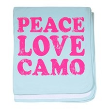 Peace Love Camo baby blanket