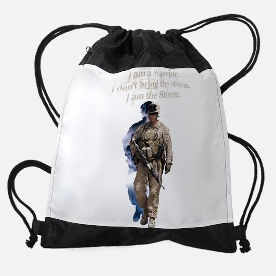 Americans United: Warrior Storm Drawstring Bag