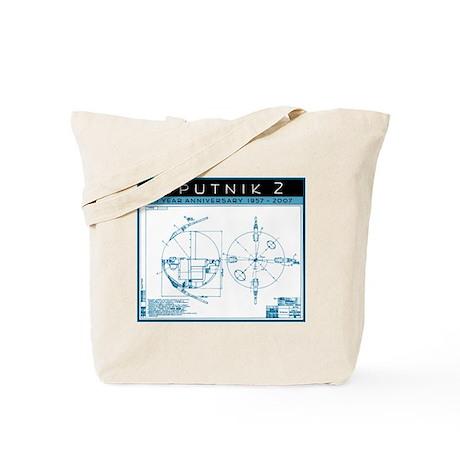 SPUTNIK 2 Blueprints Tote Bag