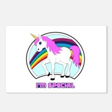 I'm Special Funny Unicorn Postcards (Package of 8)