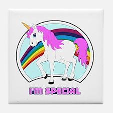 I'm Special Funny Unicorn Tile Coaster