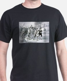 Heroes of 76 marching to the fight - 1876 T-Shirt