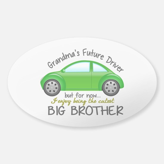 Big Brother - Car Sticker (Oval)