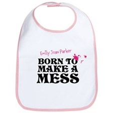 Born To Make A Mess Personalised Baby Bib