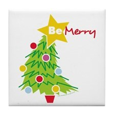 Be Merry Tile Coaster