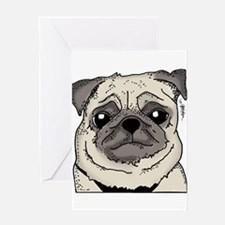 JessicaLynnOriginal - Pug Greeting Card