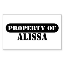 Property of Alissa Rectangle Decal
