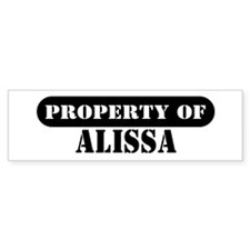 Property of Alissa Bumper Car Sticker