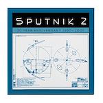 SPUTNIK 2 Blueprints Tile Coaster