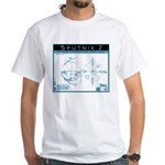 SPUTNIK 2 Blueprints White T-Shirt
