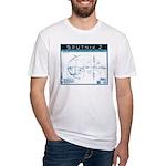 SPUTNIK 2 Blueprints Fitted T-Shirt
