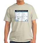 SPUTNIK 2 Blueprints Ash Grey T-Shirt