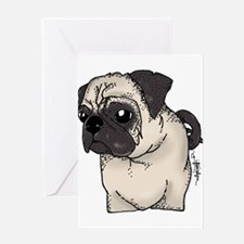 Pug - Are you looking at me? Greeting Card