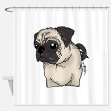 Pug - Are you looking at me? Shower Curtain
