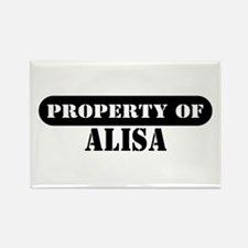 Property of Alisa Rectangle Magnet