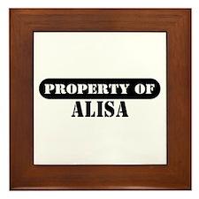 Property of Alisa Framed Tile